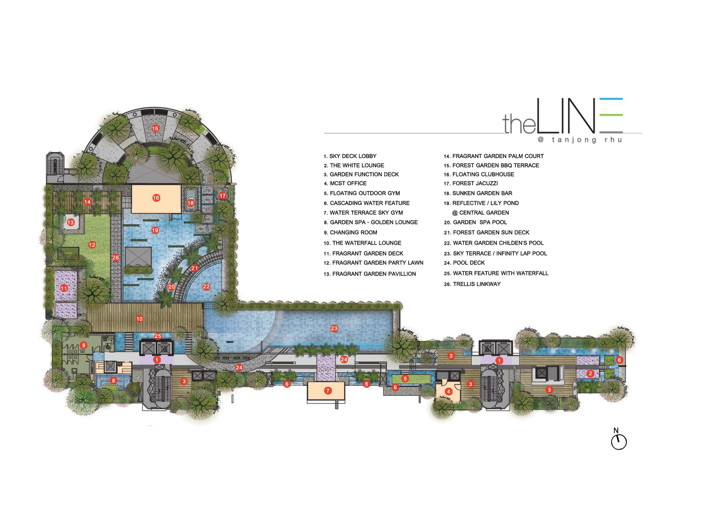The Line @ Tanjong Rhu 4th Storey Site Map