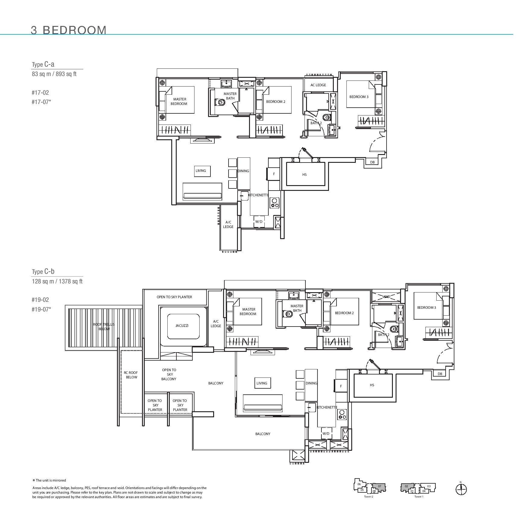 The Line @ Tanjong Rhu 3 Bedroom Floor Plans Type Ca